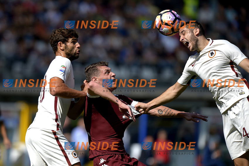 Andrea Belotti Torino, Konstantinos Manolas Roma,<br /> Torino 25-09-2016, Stadio Olimpico Grande Torino, Football Calcio 2016/2017 Serie A, Torino - Roma, Foto Filippo Alfero/Insidefoto