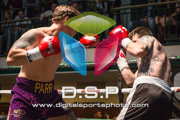 Matty Parr VS Iain Jackson - Light-Heavyweight Contest. Photo by: Stephen Smith<br /> <br /> Goodwin Boxing: New Era - Saturday 5th Sept 2015.<br /> <br /> York Hall, Bethnal Green, London, United Kingdom.