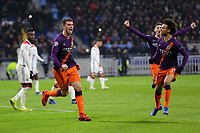 Aymeric Laporte celebrates scoring Manchester City's opening goal during Lyon vs Manchester City, UEFA Champions League Football at Groupama Stadium on 27th November 2018