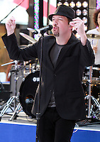 August 17, 2012 Justin Jeffre, 98 Degrees perform on the NBC's Today Show Toyota Concert Serie at Rockefeller Center in New York City.Credit:© RW/MediaPunch Inc. /NortePhoto.com<br />