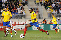 Juan David Valencia (6) of Colombia (COL). The men's national teams of the United States (USA) and Colombia (COL) played to a 0-0 tie during an international friendly at PPL Park in Chester, PA, on October 12, 2010.