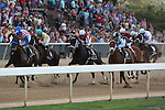 April 12, 2014: The field during the running of the Arkansas Derby at Oaklawn Park in Hot Springs, AR. Justin Manning/ESW/CSM