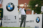 Robert Rock (ENG) tees off to start his round on the 1st tee during Day 2 of the BMW Italian Open at Royal Park I Roveri, Turin, Italy, 10th June 2011 (Photo Eoin Clarke/Golffile 2011)