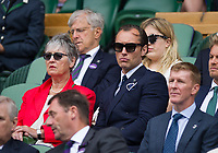 Jude Law in the Royal Box on Centre Court<br /> <br /> Photographer Ashley Western/CameraSport<br /> <br /> Wimbledon Lawn Tennis Championships - Day 11 - Friday 14th July 2017 -  All England Lawn Tennis and Croquet Club - Wimbledon - London - England<br /> <br /> World Copyright &copy; 2017 CameraSport. All rights reserved. 43 Linden Ave. Countesthorpe. Leicester. England. LE8 5PG - Tel: +44 (0) 116 277 4147 - admin@camerasport.com - www.camerasport.com