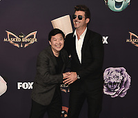 "BEVERLY HILLS  - SEPTEMBER 10:  Ken Jeong  and Robin Thicke attends the season two premiere event for FOX's ""The Masked Singer"" at The Bazaar at the SLS Beverly Hills on September 10, 2019 in Beverly Hills, California. (Photo by Scott Kirkland/FOX/PictureGroup)"