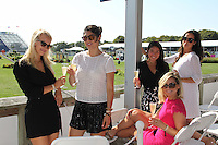 Steph Jensen, Laura Eurdolian, Yumi Matsuo, Elizabeth Kennedy and Carli Roth attend The Hampton Classic 2014 on Aug. 27, 2014 (Photo by Taylor Donohue / Guest of a Guest)