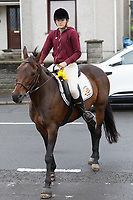 Pictured: Danielle John outside St John Lloyd School, in Llanelli, Carmarthenshire, UK. Thursday 12 September 2019<br /> Re: The family of a bullied pupil were joined by friends and held a minute's silence, a year after he hanged himself in school toilets.<br /> His heartbroken father Byron John claims his son Bradley, 14, would still be alive if the school had acted to stop the bullies.<br /> Bradley's 13-year-old sister Danielle found him dead in the toilet block at, an hour after going missing at St John Lloyd Roman Catholic School in Llanelli, South Wales, UK.