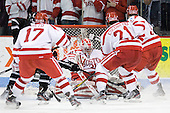 Kieran Millan (BU - 31) - The Boston University Terriers defeated the visiting Providence College Friars 6-1 on Friday, January 20, 2012, at Agganis Arena in Boston, Massachusetts.