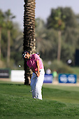 Felipe Aguilar (CHI) plays his 3rd shot from the rough and sinks the ball on the 16th hole during Sunday's Final Round of the 2013 Omega Dubai Desert Classic held at the Emirates Golf Club, Dubai, 3rd February 2013..Photo Eoin Clarke/www.golffile.ie