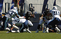Sept. 17, 2006; San Diego, CA, USA; San Diego Chargers running back (21) LaDainian Tomlinson rushes the ball against the Tennessee Titans at Qualcomm Stadium in San Diego, CA. With this run Tomlinson surpassed 10000 career rushing yards. Mandatory Credit: Mark J. Rebilas