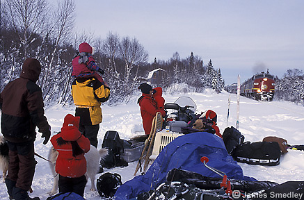 Snowmobiling trip in Northern Ontario