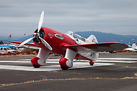 Gee Bee Super QED II, Red and White Classic Vintage Airplane, Arlington Fly-In 2015, WA, USA.