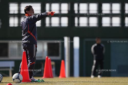 Norio Sasak Head Coach (JPN), .FEBRUARY 11, 2012 - Football / Soccer : Nadeshiko Japan team training Wakayama camp at Kamitonda Sports Center in Wakayama, Japan. (Photo by Akihiro Sugimoto/AFLO SPORT) [1080]