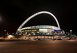 Wembley Stadium London at night during the Friendly International match at Wembley Stadium, London. Picture date 28th May 2008. Picture credit should read: Simon Bellis/Sportimage