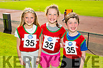 Orla Mahony, Aoibheann Buckley and Odhran Buckley from Ballybunion at the Community Games finals at An Riocht on Saturday