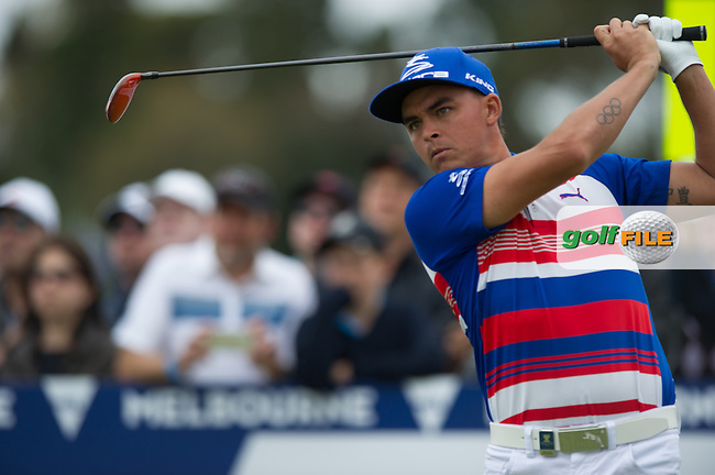 Rickie Fowler (USA) during the final round at the ISPS Handa World Cup of Golf, from Kingston heath Golf Club, Melbourne Australia. 27/11/2016<br /> Picture: Golffile | Anthony Powter<br /> <br /> <br /> All photo usage must carry mandatory copyright credit (&copy; Golffile | Anthony Powter)