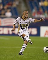 Pumas UNAM defender Fernando Espinosa (16) passes the ball. The New England Revolution defeated Pumas UNAM in SuperLiga group play, 1-0, at Gillette Stadium on July 14, 2010.