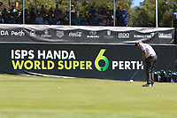 Matthew Millar (AUS) in action on the 6th during Round 2 Matchplay of the ISPS Handa World Super 6 Perth at Lake Karrinyup Country Club on the Sunday 11th February 2018.<br /> Picture:  Thos Caffrey / www.golffile.ie<br /> <br /> All photo usage must carry mandatory copyright credit (&copy; Golffile | Thos Caffrey)