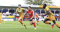 Luton Town striker Danny Hylton (2nd right) chases down the ball during the Sky Bet League 2 match between Luton Town and Yeovil Town at Kenilworth Road, Luton, England on 13 August 2016. Photo by Liam Smith.