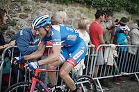 Frederik Veuchelen (BEL/Wanty-Groupe Gobert) in the breakaway<br /> <br /> Tour de Wallonie 2015<br /> stage 5: Chimay - Thuin (