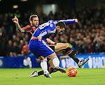 Chelsea's Eden Hazard fires in a shot<br /> <br /> Barclays Premier League - Chelsea v AFC Bournemouth - Stamford Bridge - England - 5th December 2015 - Picture David Klein/Sportimage