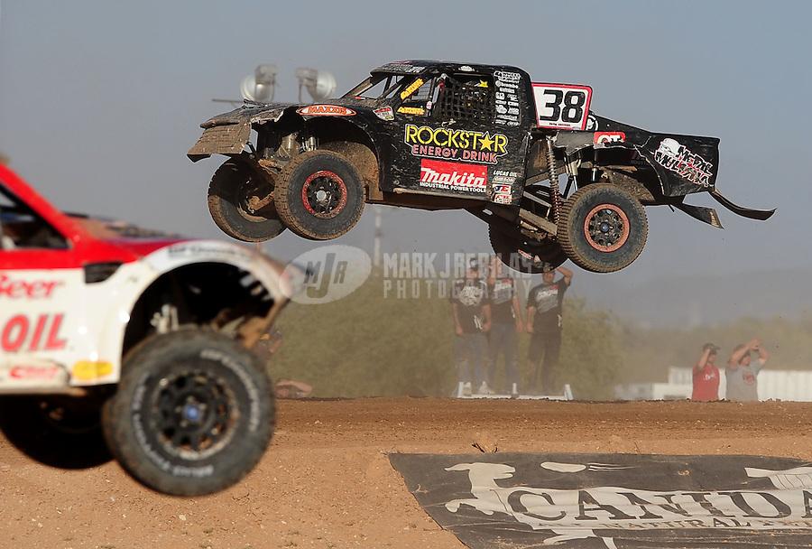 Apr 17, 2011; Surprise, AZ USA; LOORRS driver Brian Deegan (38) during round 4 at Speedworld Off Road Park. Mandatory Credit: Mark J. Rebilas-