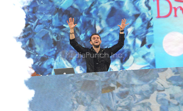 New York, NY- July 18: Zedd performs in front of the largest crowd of the summer at Rumsey Playfield on July 18, 2014 as part of the GMA 2014 Summer Concert Series in New York City. Credit: John Palmer/MediaPunch