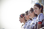 Sign on before La Fleche Wallonne Femmes 2018 running 118.5km from Huy to Huy, Belgium. 18/04/2018.<br /> Picture: ASO/Thomas Maheux | Cyclefile.<br /> <br /> All photos usage must carry mandatory copyright credit (&copy; Cyclefile | ASO/Thomas Maheux)
