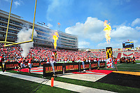 The Terrapins takes the field. Maryland defeated Richmond 50-21 during home season opener at the Byrd Stadium in College Park, MD on Saturday, September 5, 2015.  Alan P. Santos/DC Sports Box