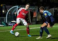 Fleetwood Town's Barrie McKay (left) competing with Wycombe Wanderers' Alex Pattison (right) <br /> <br /> Photographer Andrew Kearns/CameraSport<br /> <br /> The EFL Sky Bet League One - Wycombe Wanderers v Fleetwood Town - Tuesday 11th February 2020 - Adams Park - Wycombe<br /> <br /> World Copyright © 2020 CameraSport. All rights reserved. 43 Linden Ave. Countesthorpe. Leicester. England. LE8 5PG - Tel: +44 (0) 116 277 4147 - admin@camerasport.com - www.camerasport.com