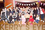 Bash: Letting her hair down at her 21st birthday in The Grand Hotel, Tralee, on Friday evening was Dawn Roche of Casements Avenue (seated centre), along with family and  friends..