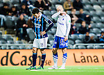Stockholm 2015-03-05 Fotboll Svenska Cupen Djurg&aring;rdens IF - IFK Norrk&ouml;ping :  <br /> Norrk&ouml;pings Daniel Sj&ouml;lund ser nedst&auml;md ut bredvid Djurg&aring;rdens Kerim Mrabti under matchen mellan Djurg&aring;rdens IF och IFK Norrk&ouml;ping <br /> (Foto: Kenta J&ouml;nsson) Nyckelord:  Djurg&aring;rden DIF Tele2 Arena Svenska Cupen Cup IFK Norrk&ouml;ping Peking depp besviken besvikelse sorg ledsen deppig nedst&auml;md uppgiven sad disappointment disappointed dejected