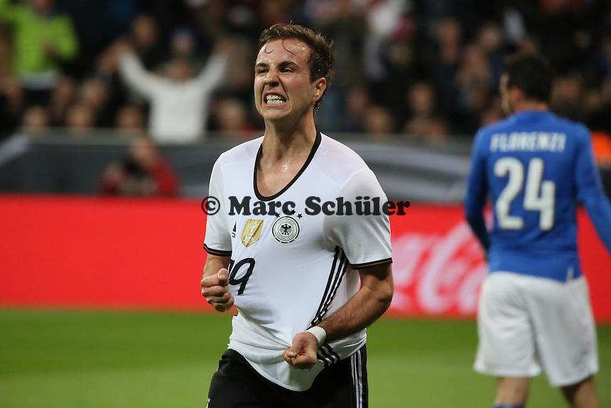 Torjubel Mario Götze (D) beim 2:0 - Deutschland vs. Italien, Allianz Arena München