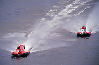 Ben Robertson (#57) and #8 USFORA Formula One (F1) Tunnel Boats, Cincinnati, Ohio 1989