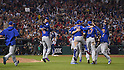 Chicago Cubs team group,<br /> NOVEMBER 2, 2016 - MLB :<br /> Chicago Cubs players celebrate after winning the Major League Baseball World Series Game 7 against the Cleveland Indians at Progressive Field in Cleveland, Ohio, United States. (Photo by AFLO)