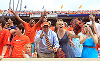 Virginia fans during the game in Charlottesville, VA. Virginia lost to UCLA 28-20. Photo/Andrew Shurtleff