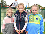 Robyn Corrigan, Lucy Coleman and Ruby McEntyre at the Oliver Plunketts Family Fun Day. Photo:Colin Bell/pressphotos.ie
