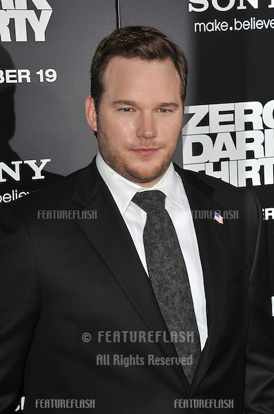 "Chris Pratt at the premiere of his movie ""Zero Dark Thirty"" at the Dolby Theatre, Hollywood..December 10, 2012  Los Angeles, CA.Picture: Paul Smith / Featureflash"