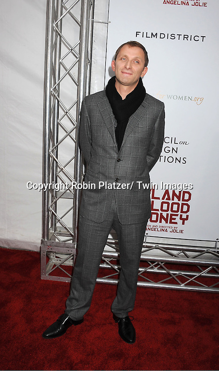 """actor Goran Kostic attends The New York Premiere of Angelina Jolie's movie .."""" In the Land of Blood and Honey"""" on December 5, 2011 at The School of Visual Arts Theatre in New York City."""