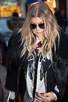 Fergie attends Gareth Pugh show during Paris fashion week - France