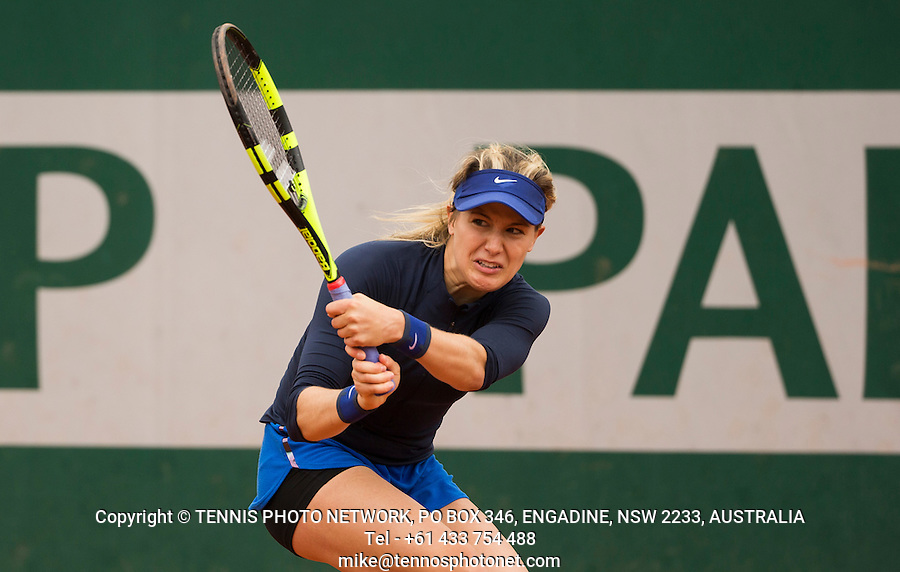 EUGENIE BOUCHARD (CAN)<br /> <br /> TENNIS - FRENCH OPEN - ROLAND GARROS - ATP - WTA - ITF - GRAND SLAM - CHAMPIONSHIPS - PARIS - FRANCE - 2016  <br /> <br /> <br /> <br /> &copy; TENNIS PHOTO NETWORK
