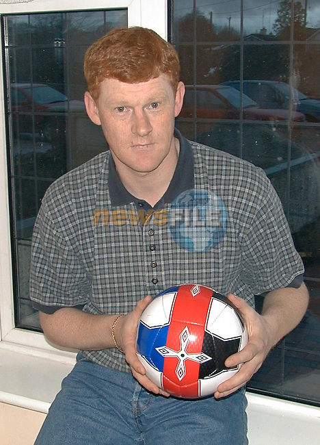 """Noel Eite from Navan with his  """"T"""" Ball for training kids..Story Elaine Keogh.P{ic Fran Caffrey / Newsfile"""