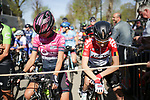 Ready to start La Fleche Wallonne Femmes 2018 running 118.5km from Huy to Huy, Belgium. 18/04/2018.<br /> Picture: ASO/Thomas Maheux | Cyclefile.<br /> <br /> All photos usage must carry mandatory copyright credit (&copy; Cyclefile | ASO/Thomas Maheux)