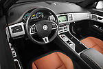 High angle dashboard view of a 2012 Jaguar XF Portfolio