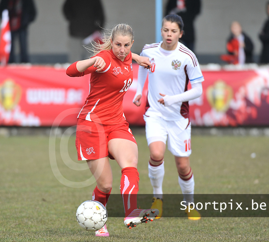 Switzerland U19 - Russia U19 : Audrey Wuichet.foto DAVID CATRY / Nikonpro.be