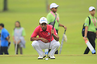 SSP Chawrasia (Asia) on the 1st green during the Friday Foursomes of the Eurasia Cup at Glenmarie Golf and Country Club on the 12th January 2018.<br /> Picture:  Thos Caffrey / www.golffile.ie