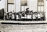 BNPS.co.uk (01202 558833)<br /> Pic: Elstob&Elstob/BNPS<br /> <br /> Nome kindergarten in July 1905 - many miners brought entire families with them.<br /> <br /> Fascinating photos documenting the famous Alaska 'gold rush' have come to light 120 years later.<br /> <br /> Thousands of people chasing riches ventured into the North American wilderness after gold was discovered in Nome in 1899.<br /> <br /> Over the next decade a staggering 112 tonnes of gold was sourced.<br /> <br /> Unsurprisingly, everyone wanted a piece of the action, leading to a huge influx of people to the area.<br /> <br /> Its transformation into a thriving metropolis was documented by acclaimed American photographer Frank Nowell.