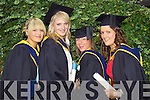 Aileen McKenna, Ballyduff, Tara Cooney, Tralee, Leann McMahon Tralee, and Aileen Nolan Tralee, who graduated  with a Bachelor of Science (Honours) in Physical Education studies at the Autumn graduations which took place at the Brandon hotel on Friday.