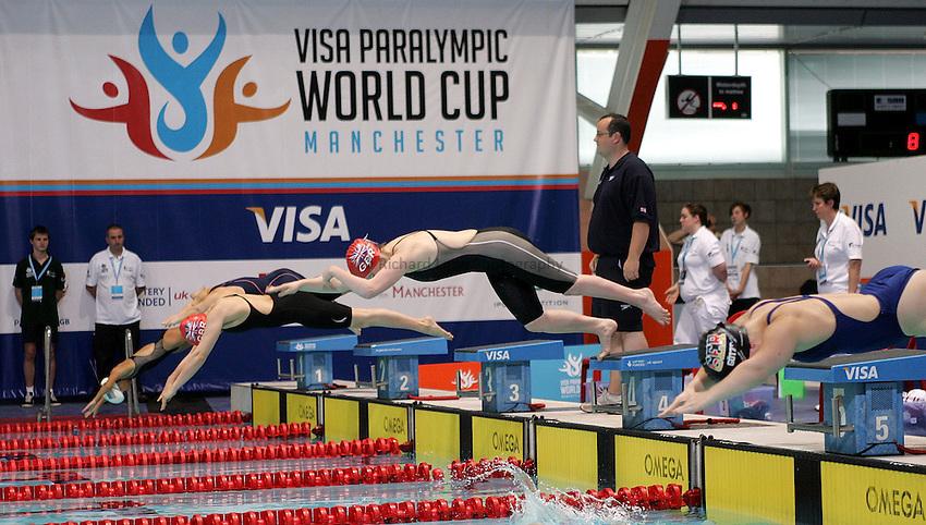Photo: Paul Thomas..VISA Paralympic World Cup 2007. Swimming. 12/05/2007...PWC Swimming dive satrt.