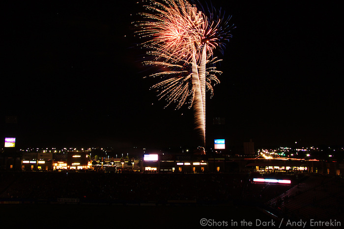 Fireworks at Pizza Hut Park in Frisco TX - June 7, 2010